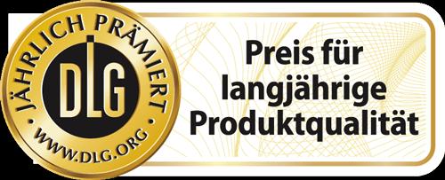 DLG Siegel fuer langjaehrige Produktqualitaet 2019